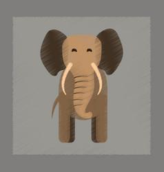 Flat shading style icon cartoon elephant vector