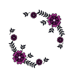 flowers wreath decoration vector image