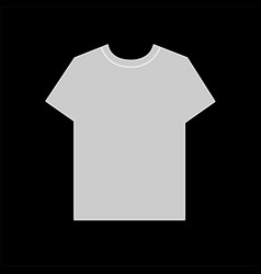 front templates simple grey t-shirt vector image