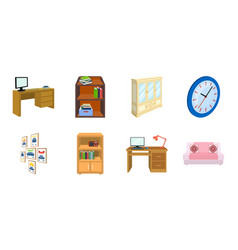 Furniture and interior icons in set collection for vector
