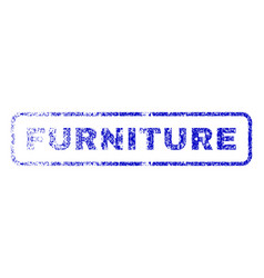 Furniture rubber stamp vector