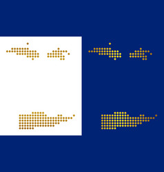Gold dot usa virgin islands map vector