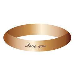Gold ring vector