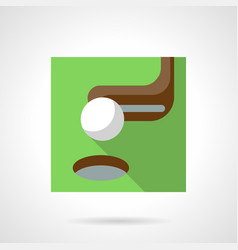 Golf flat color icon vector