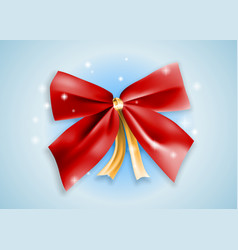 graphic realistic shiny red holiday bow knot vector image