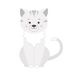 Grey cat for children vector