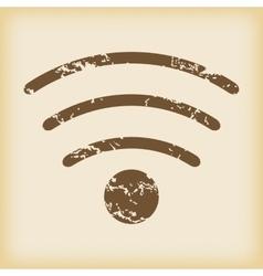 Grungy Wi-Fi icon vector
