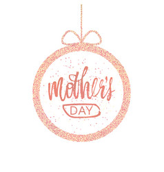 happy mother s day greeting card frame with a vector image