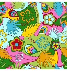 Hawaiian seamless pattern vector image