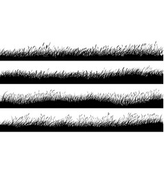 Horizontal banners meadow silhouettes vector