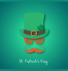 irishman with ginger mustache wearing hat vector image
