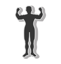 Man bodybuilding muscles vector image