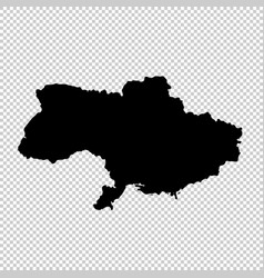 map ukraine isolated black vector image