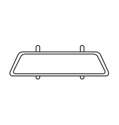 Mirror rear view car outline icon vector