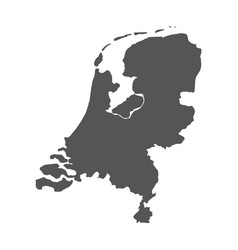 netherlands map black icon on white background vector image vector image