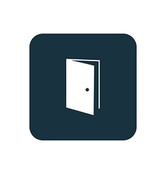Open door icon Rounded squares button vector