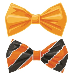 orange bow ties cartoon graphic vector image