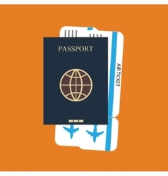 passport ticket background vector image