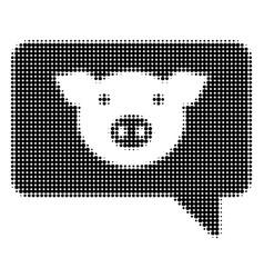 Pig message halftone icon vector