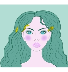 Pisces beautiful girl portrait vector image