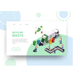 recycling waste landing page vector image
