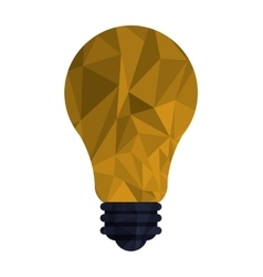 Regular lightbulb with polygon texture icon vector