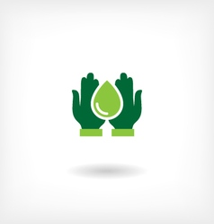 Saving water icon vector image