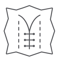 Seam thin line icon dressmaking and sew textile vector