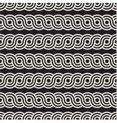 seamless rounded interlacing lines pattern modern vector image