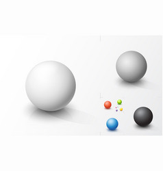 Set colored spheres vector