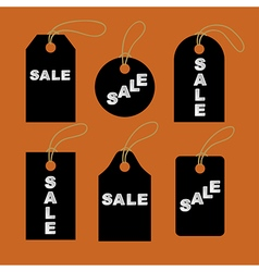 Set of black tags vector
