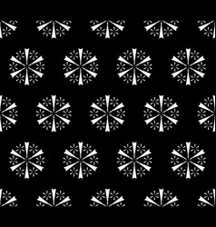 Simple floral seamless pattern snowflakes pattern vector