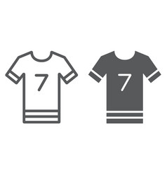 Soccer uniform line and glyph icon sport and vector