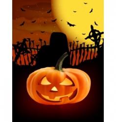 spooky halloween composition vector image