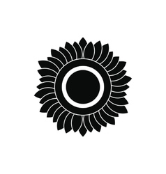 Sunflower black simple icon vector image