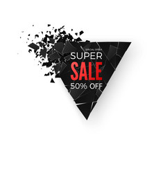 super sale abstract background banner vector image