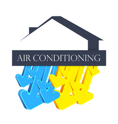 symbol for home air conditioner vector image