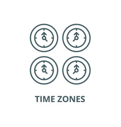 time zones line icon linear concept vector image