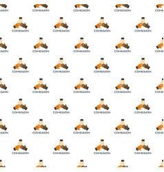 unity teamwork pattern seamless vector image