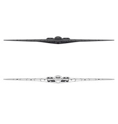Us b-2 bomber front view vector