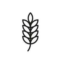wheat outline icon cereal products symbol healthy vector image