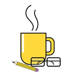 work coffee cartoon vector image
