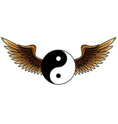 ying yang symbol harmony and balance vector image