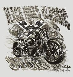 Blackhills sturgis motorcycle vector image