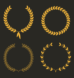 laurel wreath set of laurel wreaths vector image