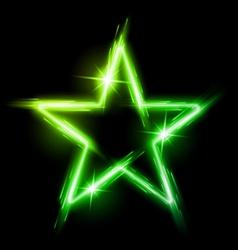 Neon star vector image vector image
