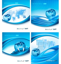 programming globe vector image vector image