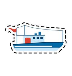 ship icon image vector image