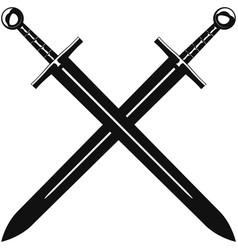 crossed swords vector image vector image
