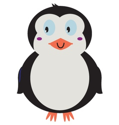 Cute beautiful Penguin isolated on white vector image vector image